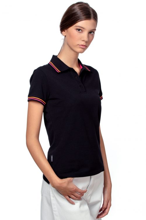 Black women's polo T-shirt