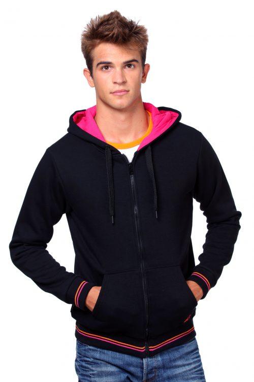 Zip-up unisex hoodie