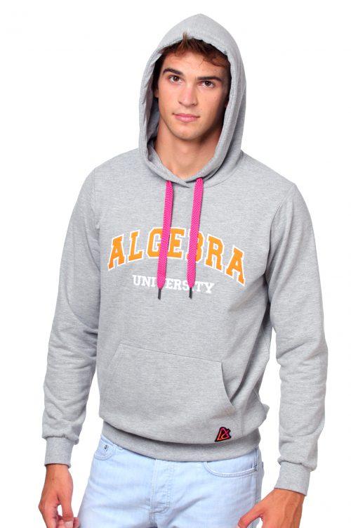 Gray unisex Algebra hoodie – unisex