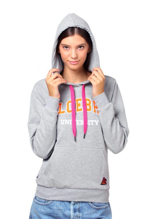 Gray unisex Algebra hoodie