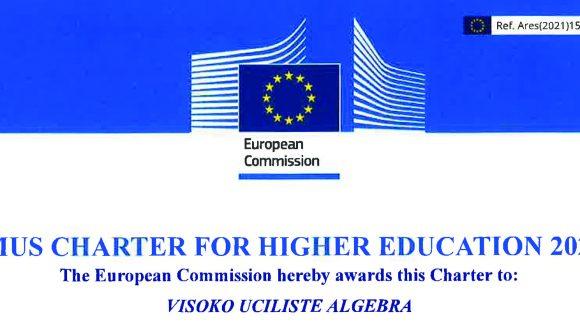 Europska komisija dodijelila je Visokom učilištu Algebra novu Erasmus Povelju u visokom obrazovanju