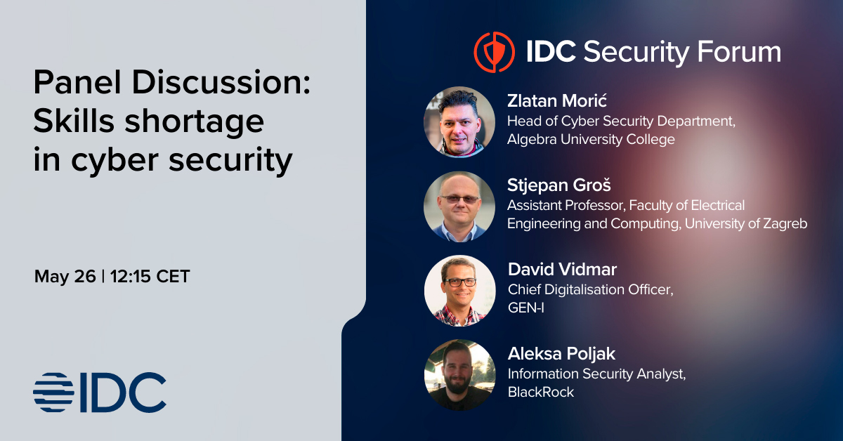 Image for Zlatan Morić – guest speaker on IDC Adriatic Security Forum 2021 conference