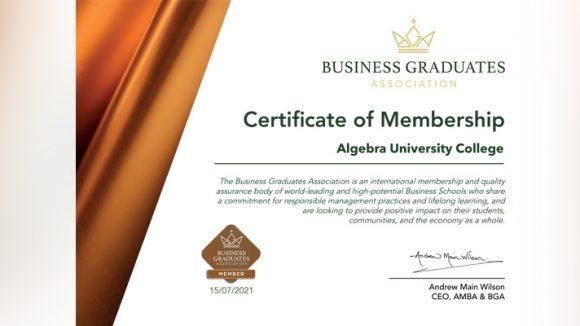 We got into Business Graduates Association!
